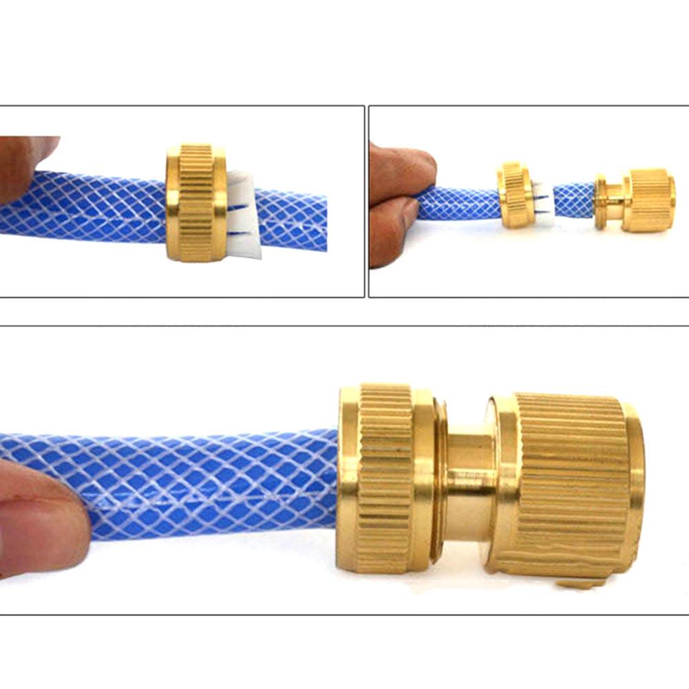 "Tube Brass Hose Trash Pump Tap Connector Fitting Adaptor 1/2"" Quick Garden Outdoor Sealing valve Gun Nozzle(China (Mainland))"