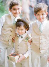 Neue 2015 Sommer Strand Jungen Hochzeit Mit Kleidung Mit Shirt + Pants + Weste + Tie Schön Kinder Smoking Anzüge Günstige Formale Kleidung(China (Mainland))