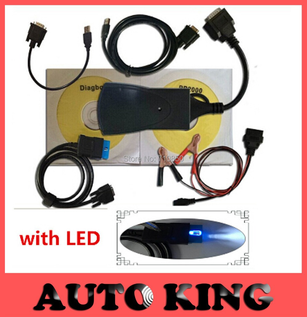 WIth Led cable ! newest V7.56 lexia 3 pp2000 lexia 3 diagnostic tool lexia3 diagbox with high quality(China (Mainland))