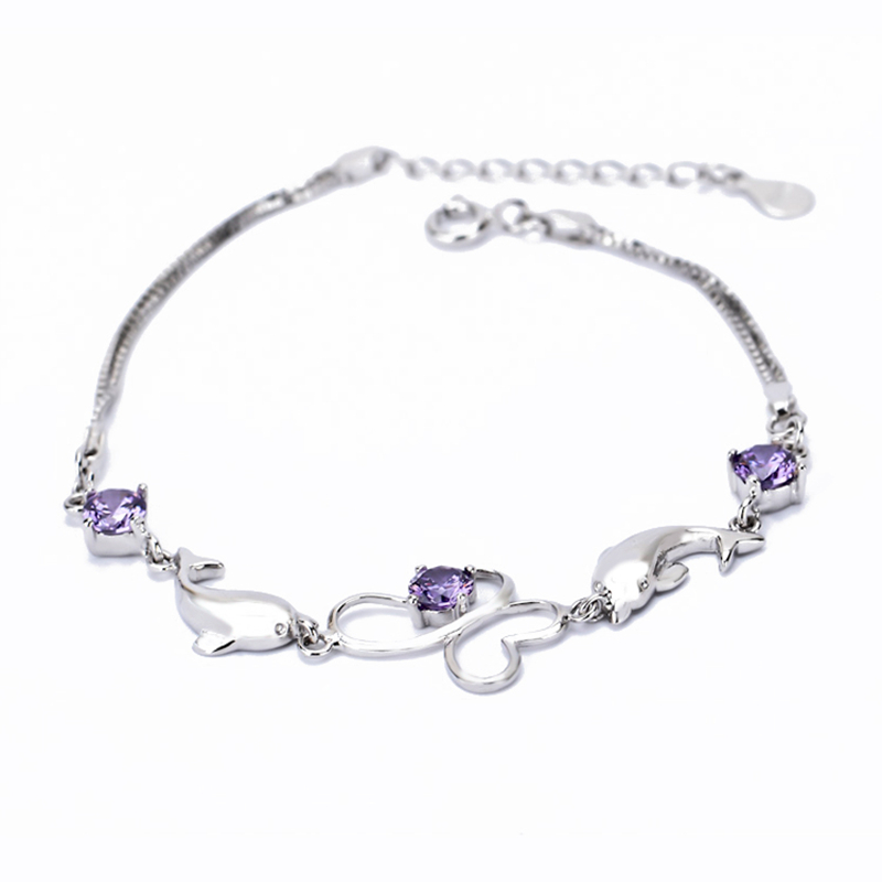 gns0066 wholesale 925 sterling silver bracelet with cz
