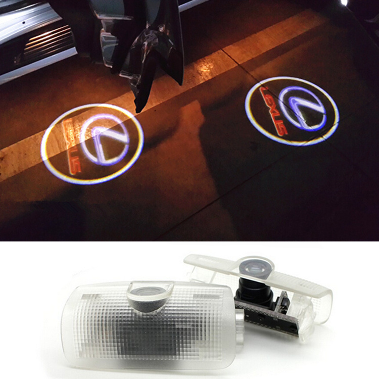 No Drill LED Car door Welcome laser projector Logo Ghost Shadow Light Lexus ES GS300 GS350 GS400 GS430 GS450h HS IS LS LX570 RC(China (Mainland))