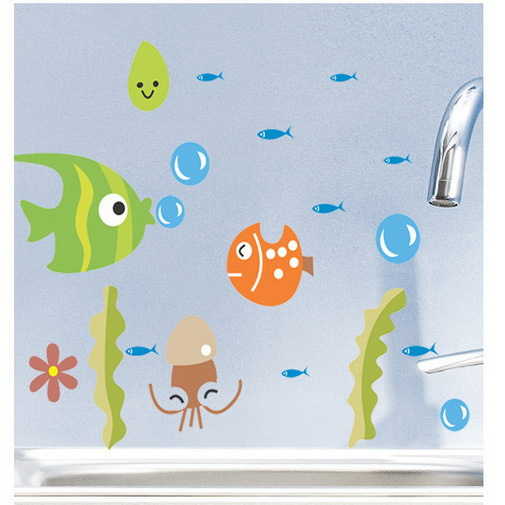 2015 Hot Sales Kids Wall Stickers Bathroom Wall Decals Children Home Decoration Switch Stickers Free Shipping(China (Mainland))