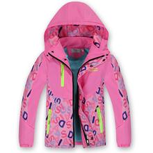 Autumn Winter  Jackets For Girls 2016 New Children Outerwear & Coats Zipper Plus Velvet Windproof Children Jacket Coat