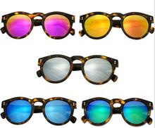 2016 illesteva sunglasses women brand designers vintage round sun glasses mirror eyewear retro women oculos de sol feminino(China (Mainland))