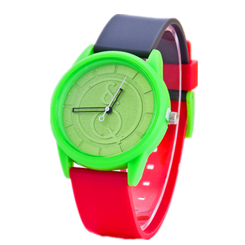 2016 New Arrival Cute Candy Color Silicone Women Watch Generous Brand Dress Wristwatch Quartz Fashion Casual Watch Relogio Clock(China (Mainland))