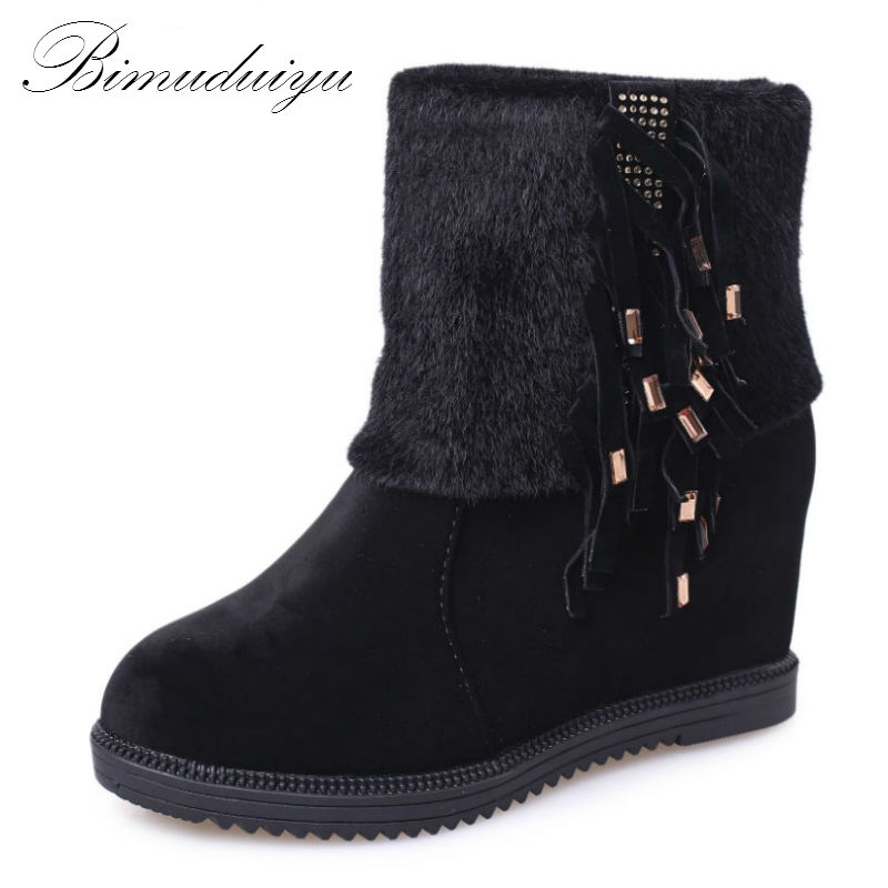Season Change Clearance Women's All Match Winter Boots Warm Snow Boots Short Plush Fashion Style Black Brown Color(China (Mainland))