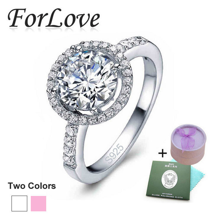 925 Sterling Silver Rings 4 Carat CZ Diamond for Women Wedding Engagement Brand Crystal Wholesale Jewelry anel aneis O 210(China (Mainland))