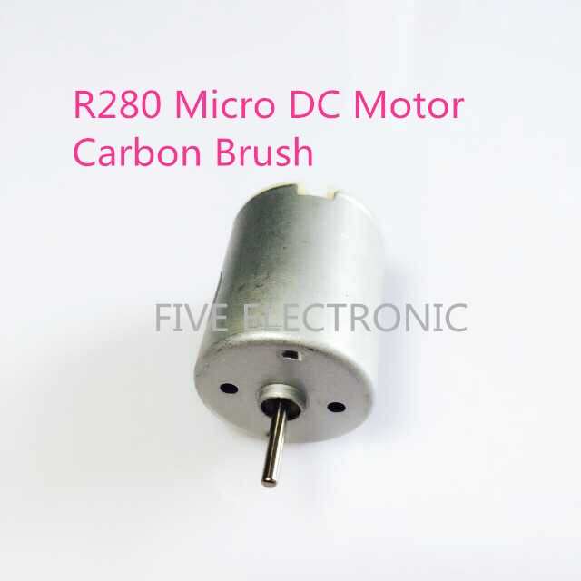 FREE SHIPPING! Micro DC Motor R280, Carbon Brush R280S-42/45/48, use for Electric toy car DIY model,Electric Hair Drier,Robot(China (Mainland))