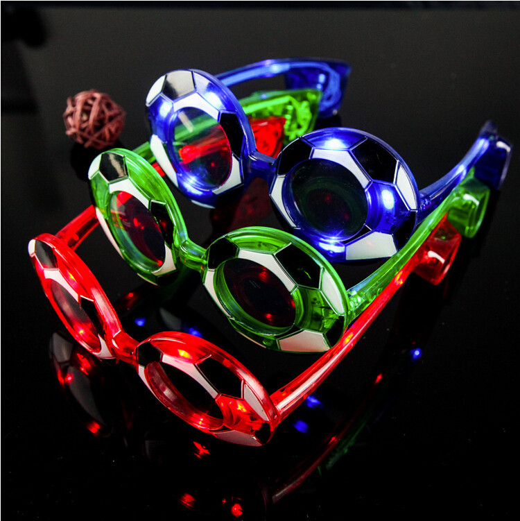 50pcs/lot Event party supplies flash football galsses LED glasses toy masquerade mask decorative game celebrate props<br><br>Aliexpress
