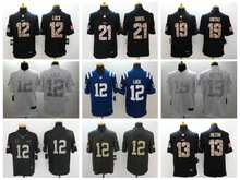 100% stitched Indianapolis Colt Pat McAfee Andrew Luck T.Y. Hilton white Black Green Salute(China (Mainland))