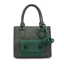 Brand Designer Women Smiley Handbag Vintage Lady Solid Casual Totes Bag Female PU Leather Zipper Dual Functions Bags LH-101(China (Mainland))