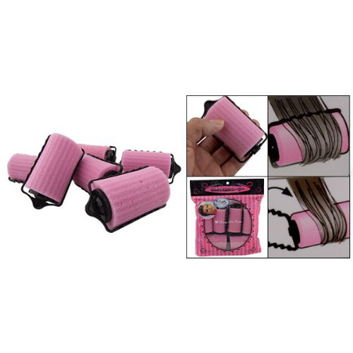 2015 Wholesale New 6PCS Special Girl/Ladies Magic Hair Care Roller Style Pink Sponge Curlers(China (Mainland))