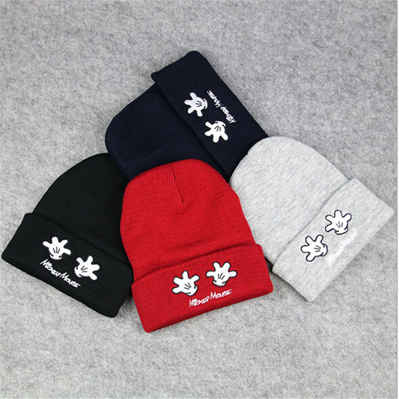new hand pattern crochet baby beanis winter warm embroidery solid color knit kids headwear caps boys girls outdoor hats fashion(China (Mainland))