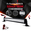 Auxmart 32inch 180w 12v 24v LED Light Bar Spot Flood Combo Beam Work Light for Offroad