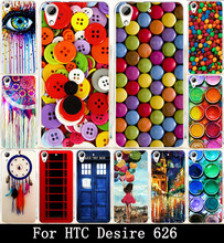 Colorful Clothes Buttons Chocolate Painted Fashion Cute Lovely Print Hard Cover Case For HTC Desire 626 Case Skin Shell Hood(China (Mainland))