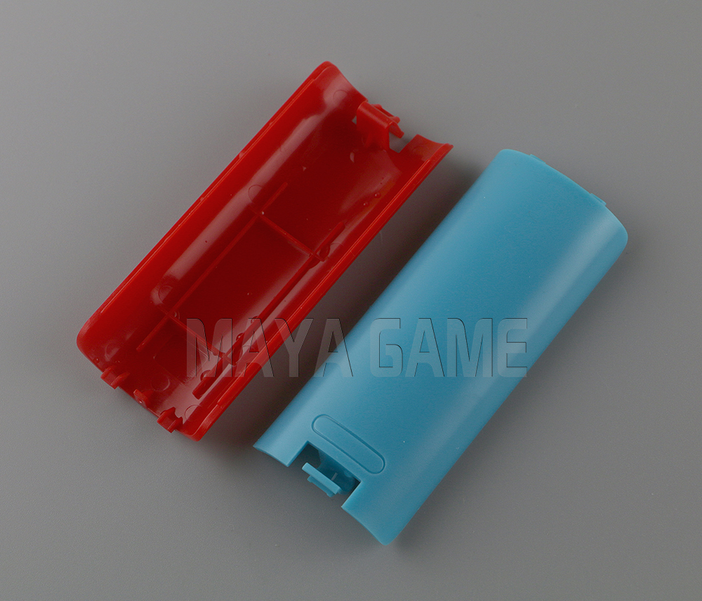 Colors Wireless Battery Back Door Cover Shell For Nintendo Wii Right Controller Case Game 10pcs/lot(China (Mainland))
