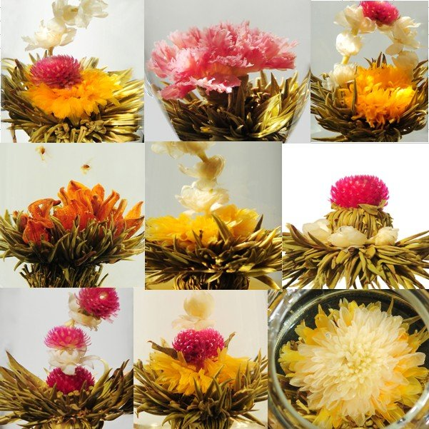 Organic china tea 100 Kinds Blooming Flower Tea Eu certificate Artistic Tea wholesale white tea for