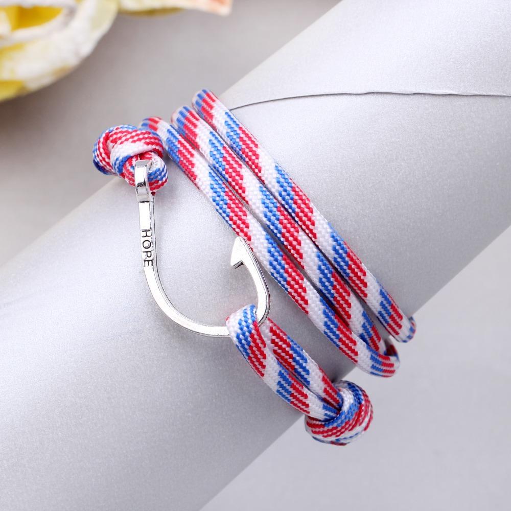 New pulsera Mens bracelets 2015 jewelry anchor bracelet Men Pulseras Hombre men leather bracelet Christmas gift