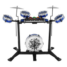 88*45*77.5cm Multifunction drumming music toys electronic organ children educational toy include 5 drums 1 pinao and 2 cymbal(China (Mainland))