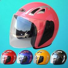 Nuevo medio tapón de seguridad casco Motos casco de la motocicleta hombres y mujeres primavera / otoño ( invierno con orejeras bufanda, no puede ser removido ) venta(China (Mainland))