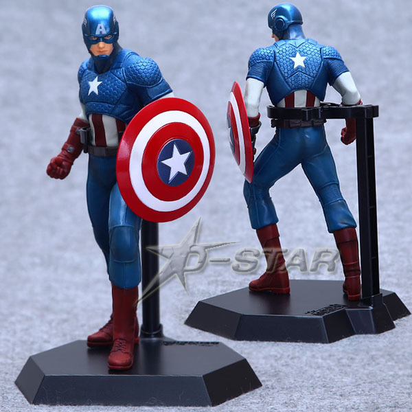 """Free Shipping Cool 9"""" The Avengers Captain America 22cm Boxed Marvel Super Hero PVC Action Figure Collection Model Toy Gift(China (Mainland))"""