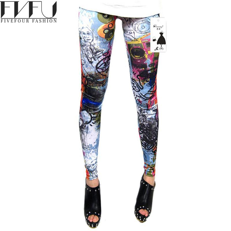 New Fashion 2016 Women Leggings Spring Summer Style Geometric Printed Legging Casual Sports ...
