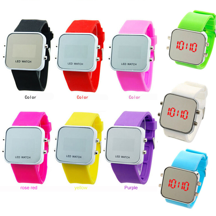 Hot fashion classic jelly silicone sports men and women students LED watch children watch the boys