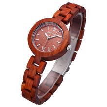 SKONE Female Eco Natural Handmade Sandalwood Maple Wooden Watches Women Fashion Analog Quartz Lady Dress Wrist Watch Girls 2016