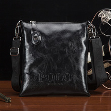 In 2016,Men's Small shouder bag leather Business Messenger Bags Men Crossbody Bags POLO Brand Man briefcase Travel Flap bag men