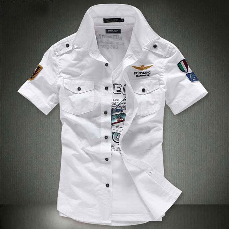 Free Shipping Wholesale Male Short Sleeve Shirts Mens Slim