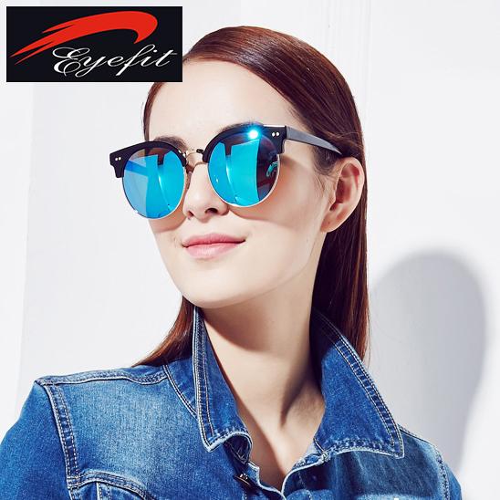 Eyefit Semi sin montura gafas de sol redondas mujeres Vintage 2015 gafas moda gafas de sol