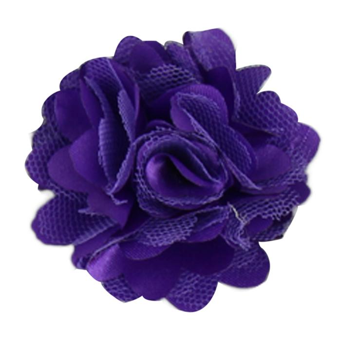Hot Marketing 20pcs/lot Baby Girl Hair Accessory 2'' DIY Fabric Satin Lace Silk Flowers Carnation Headband Solid Hairband(China (Mainland))