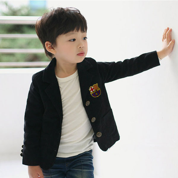 Korean Brand Spring Boy Flag Badge Preppy Style