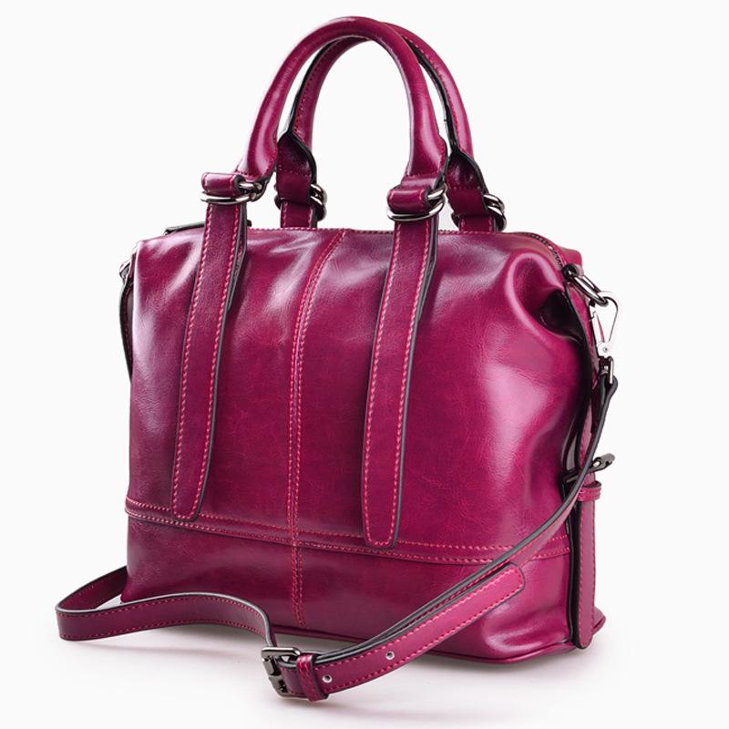 2016 New Brand Women Handbags Quality Cowhide Oil Wax Genuine Leather Single-shoulder Bag Women Shoulder Tote Bags SMB212<br><br>Aliexpress