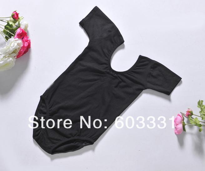 Kids Ballet Dance Gymnastics Leotards Girls Short-sleeve Cotton Tutu Costume Skate Dress SZ 3-8Y Black ! - dance dress store