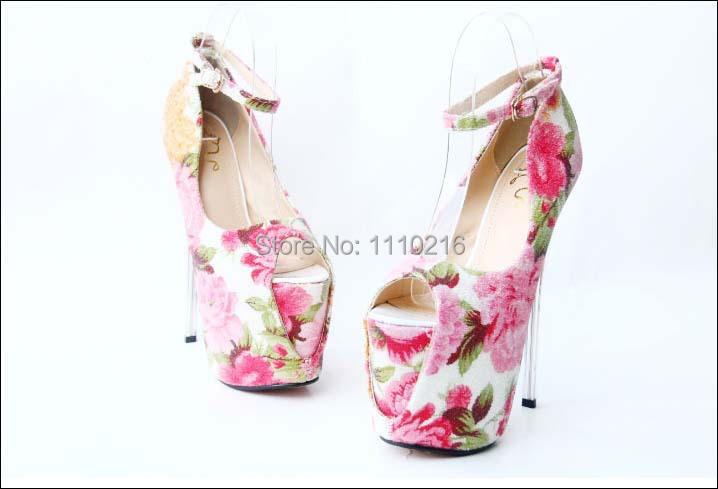 big size 35-43 new 2016 sexy sapatos peep toe salto alto women platform pumps stiletto ultra high heels buckle print shoes 35-43