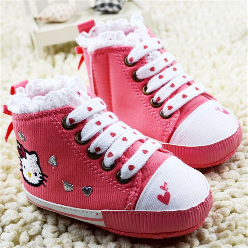 Baby Girl Sweety Princess Shoes lovely Pink Color Cat  Baby First Walker Shoes Soft Bottom Cartoon Animation bebe