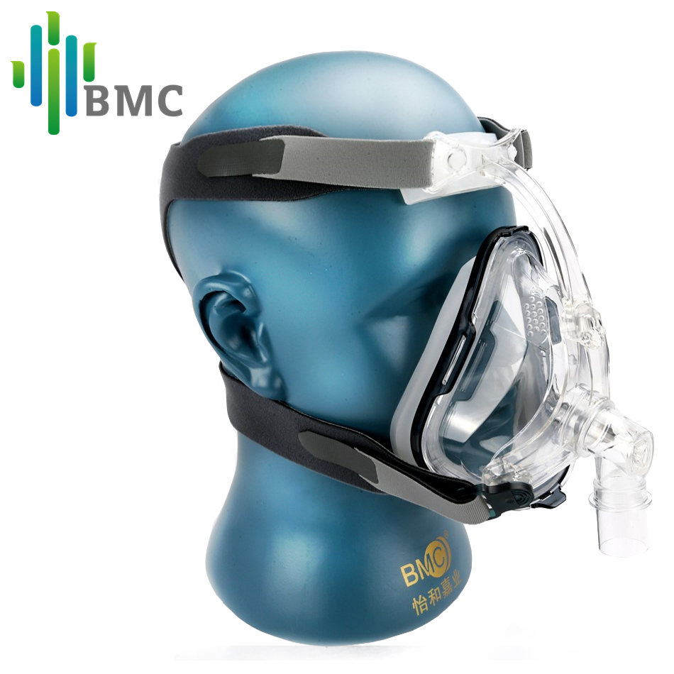 BMC FM1 Full Face Mask With Headgrear CPAP Interface For Sleep Snoring Airway Health Care(China (Mainland))