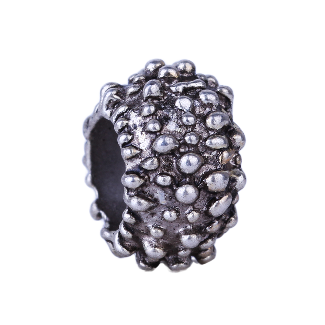 New Wholesale 1pc Fashion Style Bead Alloy Bead Charm European Silver Small Dots Bead Fit