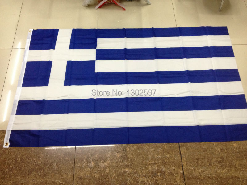 Free shipping 4ft x 6ft Hanging Flag Polyester Greece National Flag Banner Outdoor Indoor 120x180cm(China (Mainland))