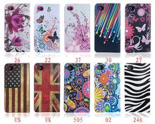 Flag butterfly painted shell around the card bracket of mobile phone leather case for iPhone4 iPhone4S flip leather case