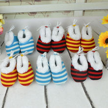 Newborn Cute Toddler Boys Girls Unisex Knitted Stripe Soft Sole Baby Shoes