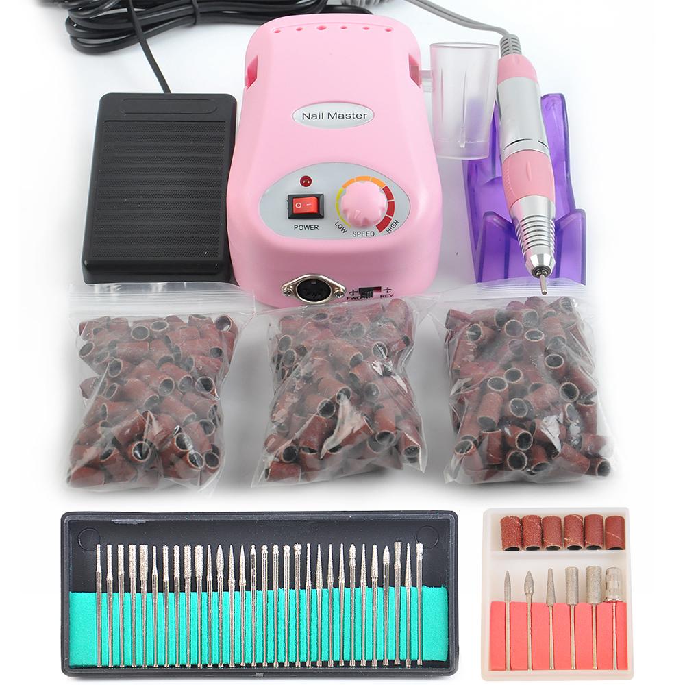 Nail Tools 30000 RPM Electric Nail Drill Machine Manicure Drills Accessory Acrylic Nail Drill File Drill Bits Pedicure Kit(China (Mainland))