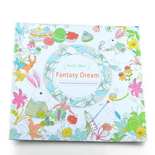 24 Pages Fantasy dream Secret Garden Series Antistress Coloring Book For Children Adults Graffiti Painting drawing toy(China (Mainland))