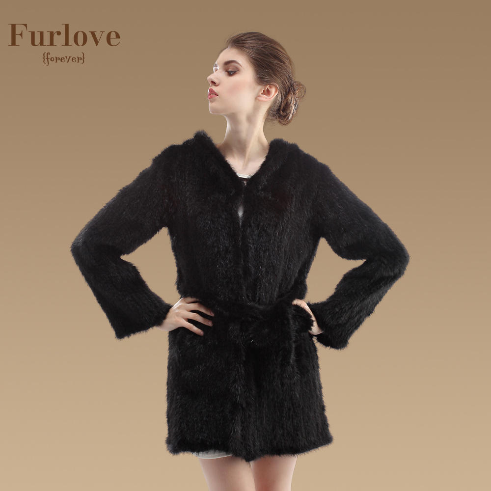 2015 Genuine Mink Fur Long Coat For Women Plus Size XXXL Natural Mink Fur Jacket With Hoody Winter Real Fur Overcoat(China (Mainland))