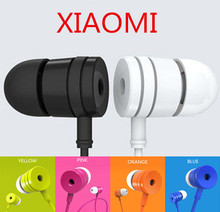 Hot sale XIAOMI Earphone universal 3.5mm In ear Stereo Headset Headphone earbuds audifonos For iphone MP3 With Mic Free shipping