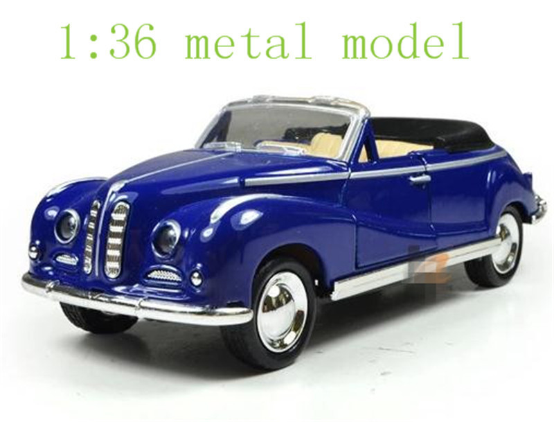 The new alloy car models classic children's toy pull back antique convertible classic car(China (Mainland))