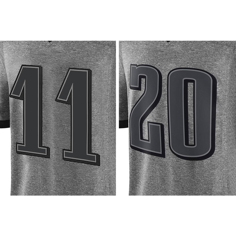 Men's #20 Brian Dawkins High quality #11 Carson Wentz 100% Stitched Logos Gray Gridiron Gray Limited Free shipping(China (Mainland))