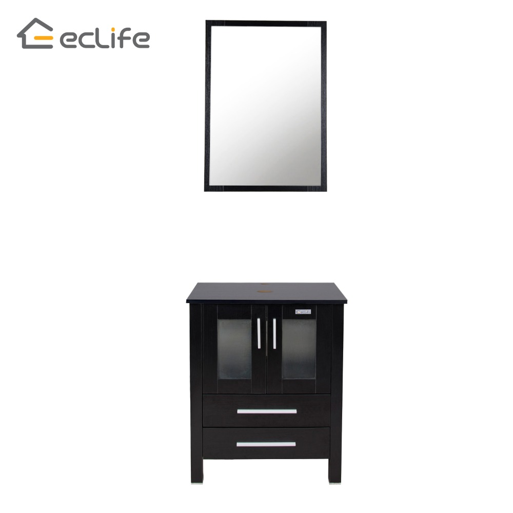 Eclife 24 modern bathroom vanity stand pedestal cabinet for Floor standing mirrored bathroom cabinet