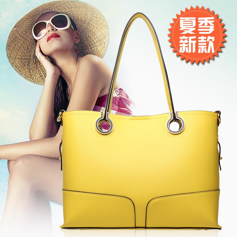 2015 Multi-purpose Fashion Brand Composite Bag Candy Color Womens Handbags Casual Female Bags<br><br>Aliexpress
